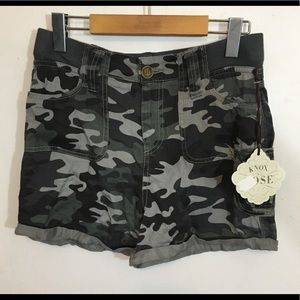 Camouflage shorts material great for hot days